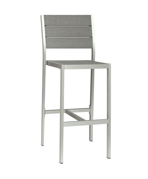 chaise de bar exterieur m0529 chaise haute en aluminium le mobilier du pro