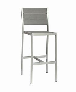 Chaise De Bar Exterieur : m0529 chaise haute en aluminium le mobilier du pro ~ Melissatoandfro.com Idées de Décoration