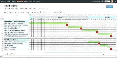 construction project schedule template excel printable