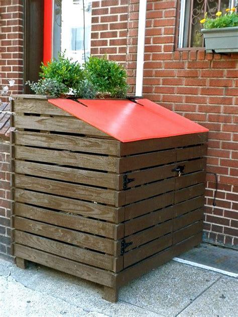 attractive outdoor trash  storage outdoor trash cans