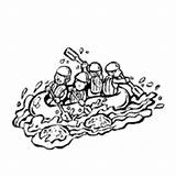 Rafting River Coloring Pages Surfnetkids Oasis sketch template