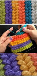 Crochet En S : trenzas puff de colores tejidas a crochet video tutorial ~ Nature-et-papiers.com Idées de Décoration