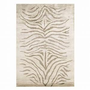 tapis haut de gamme motifs zebres en soie de bambou par angelo With tapis chambre bébé avec fleur en soie grossiste
