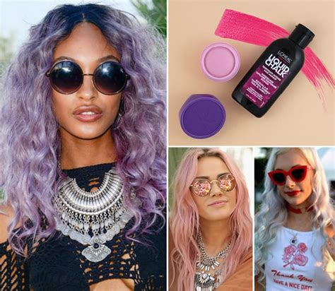 festival beauty trends pastel hair chalk