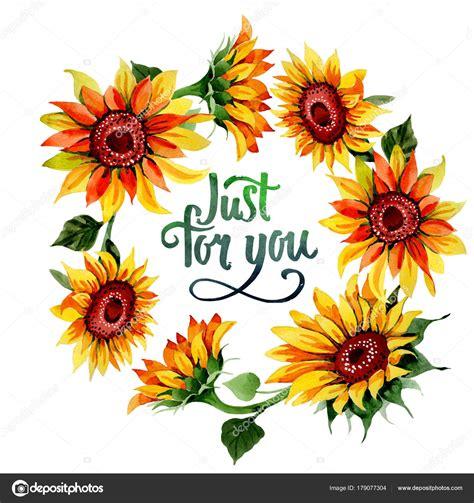 fiori girasole corona di fiori girasole di fiori selvatici in stile