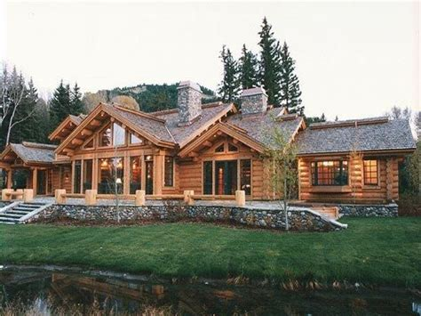 modular log home interiors pictures to pin on