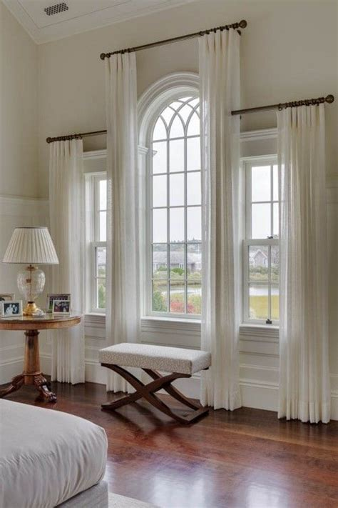 how to dress corner windows drapery the 25 best arched window curtains ideas on