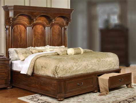 Empire Queen Storage Bed With Headboard Lighting