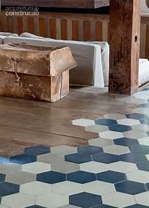 transition carrelage hexagonal bois sol pinterest With liaison carrelage parquet
