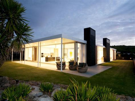 single level beach house   zealand idesignarch