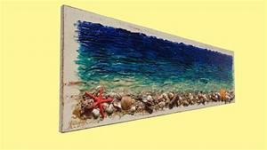 Conchiglie di mare su legno Vendita Quadri Online