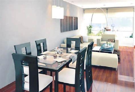 como decorar sala  comedor en espacio pequeno