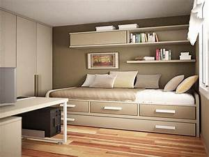 Small, Bedroom, Decor, Ideas, Brown, Laminated, Bed, Frame, -, Decoratorist