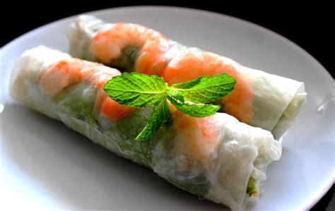 cuisine vietnamienne rouleaux de printemps au porc et au crevettes vietnamien
