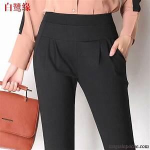 Pantalon A Pince Homme : pantalon pince femme taille haute lastique printemps ~ Melissatoandfro.com Idées de Décoration