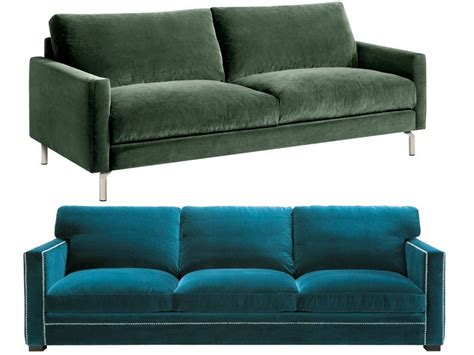 canapé en velours canapé en velours entre vert et bleu notre cœur balance