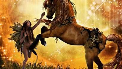 Fantasy Fairy Wallpapers Fairies Horse Magical Dark