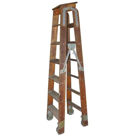 Wooden Electrician's Ladder at 1stdibs
