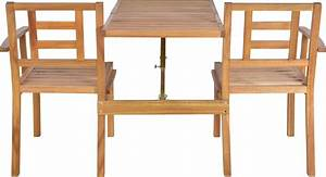 Table Jardin En Bois : banc de jardin convertible en table chaises en bois ~ Teatrodelosmanantiales.com Idées de Décoration