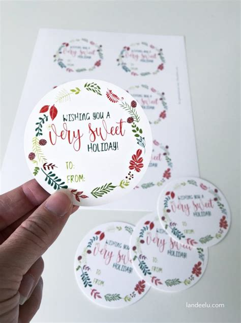 sweet holiday printable christmas gift tags landeelu com