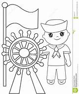 Sailor Coloring Pages Children Useful Marinero Colors Preview Illustration Template Dreamstime sketch template