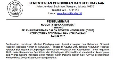 Contoh Surat Lamaran Cpns Kemdikbud 2017 by Kemdikbud Soal Dan Pendaftaran Cpns Kementerian
