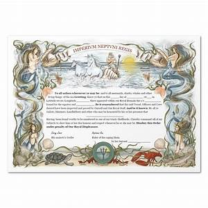 equator certificate ocean dream With crossing the line certificate template