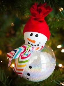 Boule De Noel A Fabriquer : boule de no l bonhomme de neige ~ Nature-et-papiers.com Idées de Décoration