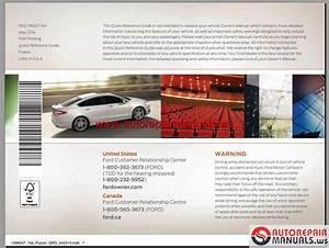 Ford Fusion 2015 Usa Workshop Manual
