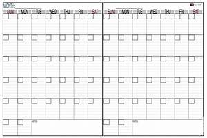 printable two month calendar online calendar templates With double month calendar template