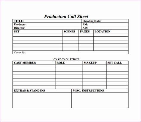 call sheet template docs 14 sales call log template excel exceltemplates exceltemplates