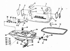 Evinrude Motor Cover Parts For 1972 25hp 25202r Outboard Motor
