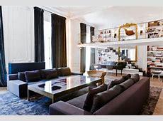 Large open space apartment interior design in Paris by