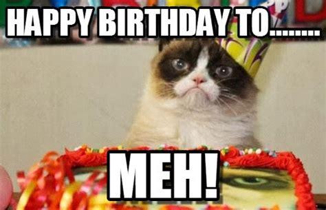 grumpy cat birthday memes  memes