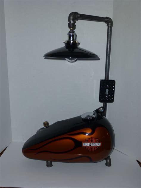 ooak steampunk style harley davidson gas tank lamp