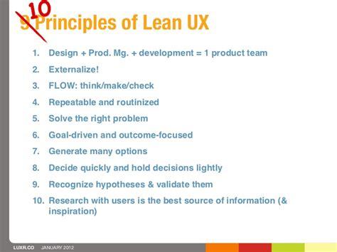 10 Principles Of Lean Ux
