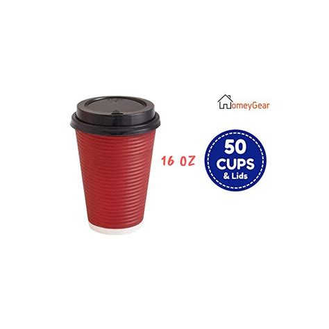 Find travel coffee cup from a vast selection of paper & ephemera. 16 oz Disposable Hot Cups with Lids - Premium Insulated ...