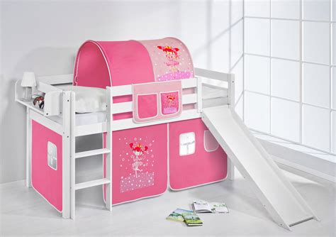 play bed loft bed cot bed with slide jelle curtain ebay