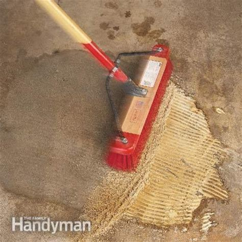 how to clean grease floor clean garage floors remove oil stains from concrete the family handyman