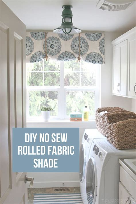 sew rolled fabric shade home owner