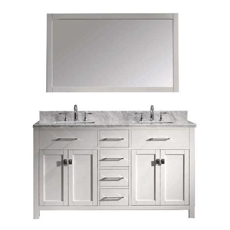 white bathroom vanity home depot virtu usa caroline 60 in w x 36 in h vanity with marble