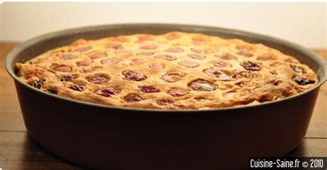 cuisine saine fr recette sans gluten clafoutis aux cerises sans gluten ni