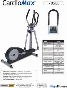 Keys Fitness Cardiomax 705el Users Manual