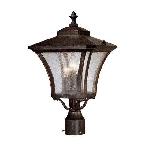 home depot outdoor lighting acclaim lighting tuscan 3 light marbleized mahogany