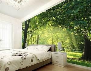 3d Tapete Schlafzimmer : 3d tapete f r eine tolle wohnung fototapete wald ~ Lizthompson.info Haus und Dekorationen