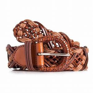 Ladies Brown Braided Leahter Belt Fits Waist Sizes 28in ...