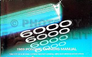 1989 Pontiac 6000 Repair Shop Manual Original