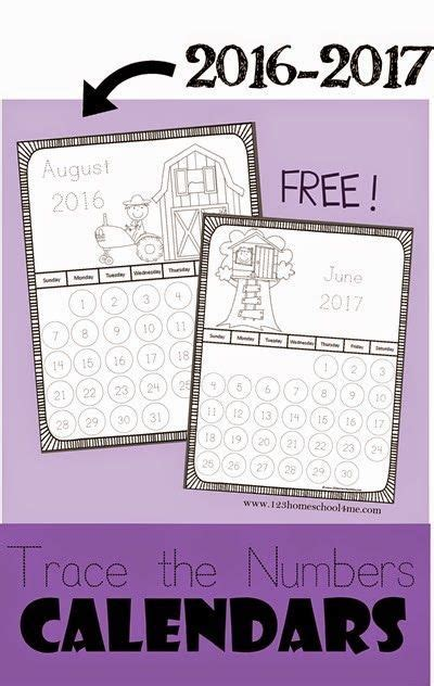 trace numbers printable calendars numbers preschool