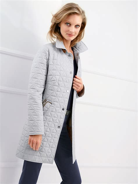 light grey long coat basler long quilted jacket light grey