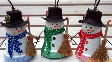 flower pot snowman ornament pinlaviecom